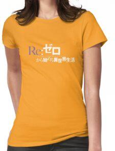 Re:Zero black logo Womens Fitted T-Shirt