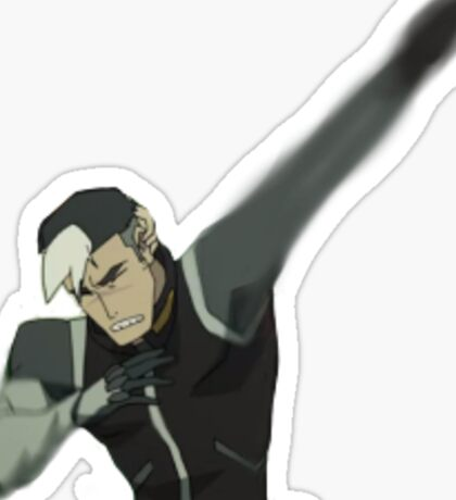 It's Shiro Dabbing Sticker