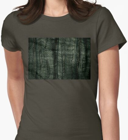 Green grunge cloth texture Womens Fitted T-Shirt