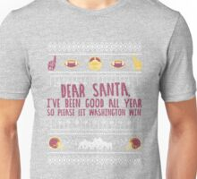 Washington Football Ugly Christmas Holiday Winter T-Shirt Sweater Unisex T-Shirt