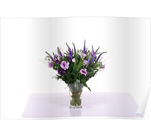 flower bouquet On white background  Poster