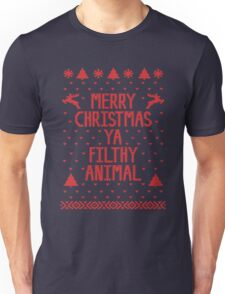 Merry Christmas You Are Filthy Animal Shirt Unisex T-Shirt