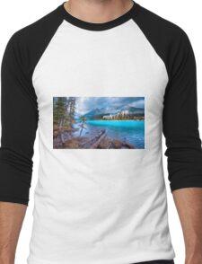 Dreamy Chateau Lake Louise Men's Baseball ¾ T-Shirt