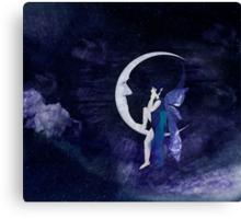 Fairy On Moon Canvas Print