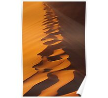 Walking On The Sand Dune Poster