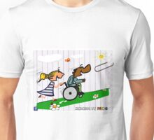 Be kind by pushing a wheel chair   Unisex T-Shirt