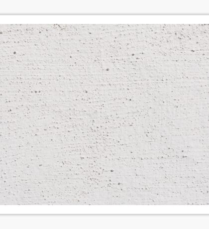 White grained paint wall texture abstract Sticker