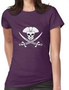 """Jack """"Calico"""" Rackham's Jolly Roger Womens Fitted T-Shirt"""