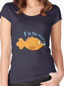 F is for fish Women's Fitted Scoop T-Shirt
