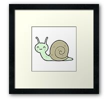 cartoon cute snail Framed Print