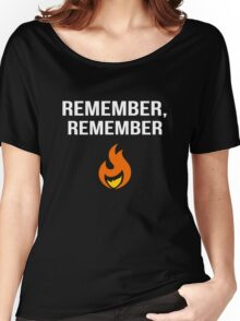 Remember Remember 5 November Guy Fawkes Women's Relaxed Fit T-Shirt
