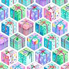 Christmas Gift Hexagons by micklyn