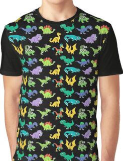 Derpy Dinosaurs - Pattern Oct 2016 Back to School Graphic T-Shirt
