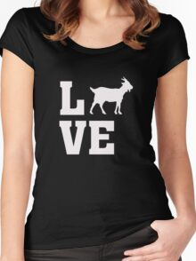 I Love Goats - Goat Animal Lover  Women's Fitted Scoop T-Shirt