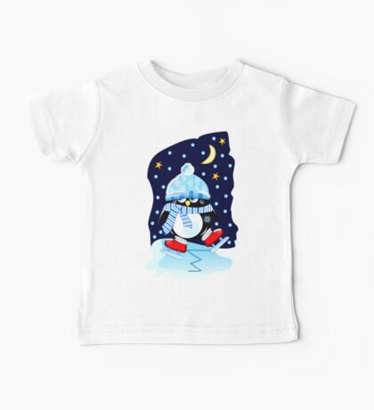 The skating Penguin Baby Tee