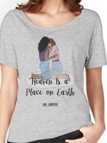 Heaven Is a Place on Earth - San Junipero - Kelly and Yorkie (Black) Women's Relaxed Fit T-Shirt