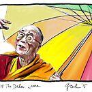 HH The Dalai Lama by Genevieve  Cseh