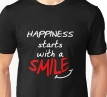 Happiness starts with a smile (dark) Unisex T-Shirt