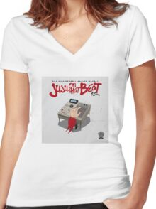 JUJU ON THAT BEAT Women's Fitted V-Neck T-Shirt