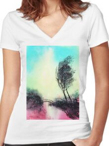 Greeting 1 Women's Fitted V-Neck T-Shirt