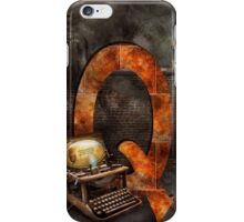 Steampunk - Alphabet - Q is for Qwerty iPhone Case/Skin