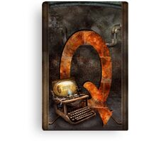 Steampunk - Alphabet - Q is for Qwerty Canvas Print