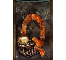 Steampunk - Alphabet - Q is for Qwerty Photographic Print
