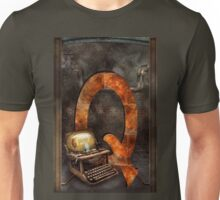 Steampunk - Alphabet - Q is for Qwerty Unisex T-Shirt