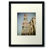 Los Angeles Parking Signs Framed Print
