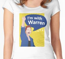 I'm With Warren Shirt Women's Fitted Scoop T-Shirt