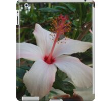 White and Red Flower iPad Case/Skin