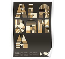 Typographic Alabama State Poster Poster