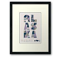 Typographic Alaska State Poster Framed Print