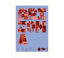 Typographic Arizona State Poster Art Print