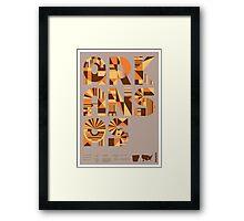 Typographic Arkansas State Poster Framed Print