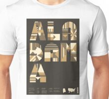 Typographic Alabama State Poster Unisex T-Shirt