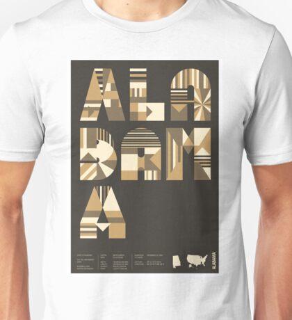 Typographic Alabama State Poster Unisex T-Shirt