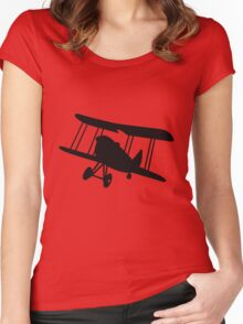 Biplane / Biplano / Doppeldecker / Biplan / Tweedekker Women's Fitted Scoop T-Shirt