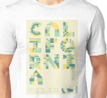 Typographic California State Poster Unisex T-Shirt