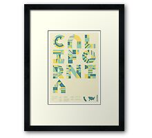 Typographic California State Poster Framed Print