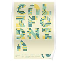 Typographic California State Poster Poster