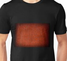 Brown puckered leather material Unisex T-Shirt