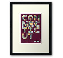 Typographic Connecticut State Poster Framed Print