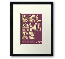 Typographic Delaware State Poster Framed Print