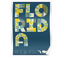 Typographic Florida State Poster Poster