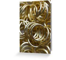 Golden Rings Greeting Card