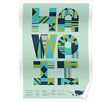 Typographic Hawaii State Poster Poster