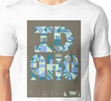 Typographic Idaho State Poster Unisex T-Shirt