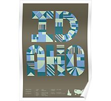 Typographic Idaho State Poster Poster
