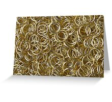 Many Golden Rings Greeting Card